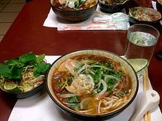 Bun Bo (Hue) is a spicy noodle soup that I discovered I loved while in Saigon. It'll give you an adrenalin rush!