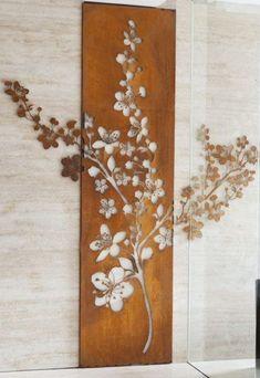 raumdekoration-blumen-ast-wanddekoration-aus-holz-modern Source by archzinemag Laser Cut Screens, Laser Cut Panels, Laser Cut Metal, 3d Laser, Laser Cutting, Metal Walls, Metal Wall Art, Wood Art, Entrance Foyer
