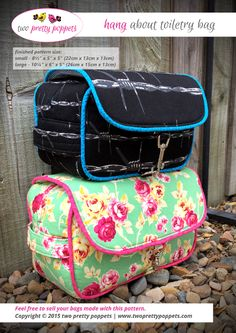 Looking for your next project? You're going to love Hang About Toiletry Bag by designer Lisa Ratford.