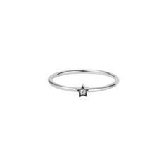 Tiny Star Ring –White Sapphire & Silver