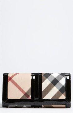 a8335b9a518 Burberry  Nova Check  Wallet available at  Nordstrom  Burberryhandbags  Luxury Purses