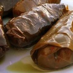 Arabic Food Recipes - Stuffed Grape Leaves; ugly but so good.  I think Whole Foods has them