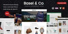 BASEL is a professional minimalist AJAX responsive theme built to create modern powerful e-commerce web-site.