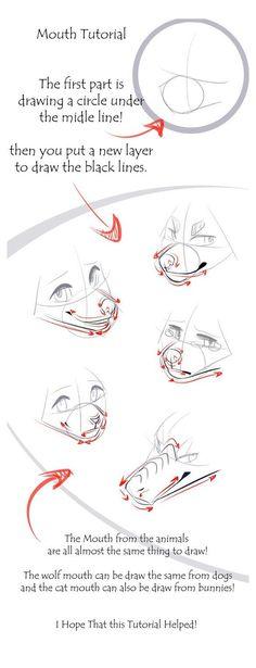 Mouth Drawing, Drawing Base, Drawing Tips, Drawing Techniques, Feet Drawing, Sketching Tips, Drawing Ideas, Animal Sketches, Art Drawings Sketches