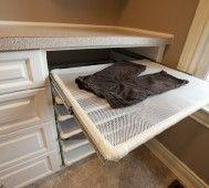 Building this in my future laundry room. flat drying racks. GENIUS.