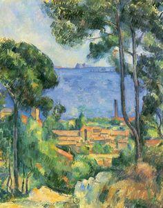 """Paul Cezanne """"L'Estaque et Chateau d'If"""", 1883 (France, Post-Impressionism, 19th cent.)"""