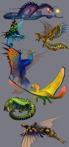 Unusual dragons by Neboveria.deviantart.com on @DeviantArt