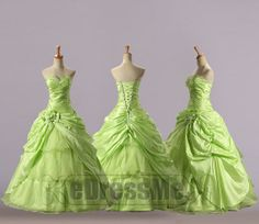 Princess Sage sweetheart Beading Ruched lace up Green Wedding Dresses, Prom Dresses, Princess Wedding, Sage, Beading, Lace Up, Fashion, Moda, Bead