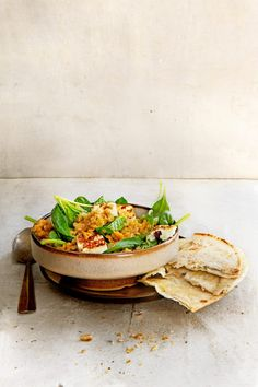 Indian lentils with spinach and paneer delicious. Vegas, Asian Recipes, Ethnic Recipes, Delicious Magazine, Garam Masala, Meatless Monday, Lentils, Foodies, Curry