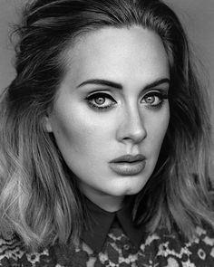Repost By studyofagirlthroughfamousfaces:  Adele #adele #musician #photography #portrait #blackandwhite (via #appskottage.com #IGSaver @AppKottage)