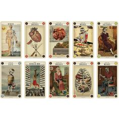 Zombie Tarot Cards ❤ liked on Polyvore featuring fillers, cards, decorative, magic and tarot