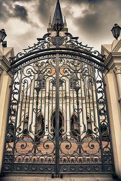 Ornate Iron Gates to Castle