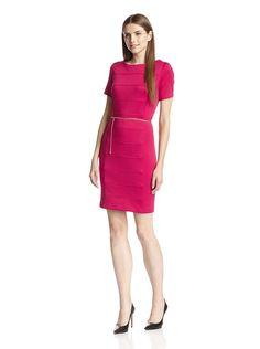 Sandra Darren Women's Short Sleeve Sheath Dress with Belt, http://www.myhabit.com/redirect/ref=qd_sw_dp_pi_li?url=http%3A%2F%2Fwww.myhabit.com%2Fdp%2FB00VSYJCXS%3F