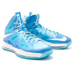 Nike Lebron X (10) Blue Diamond found on Polyvore