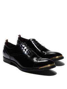Alexander McQueen Spazalatto Cap-toe Shoes are shoe porn for the male set.