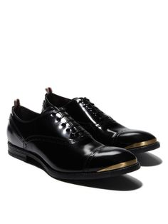 Alexander McQueen Spazalatto Cap-toe Shoes are shoe porn for the male set.