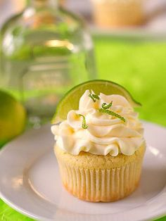 These Cinco de Mayo Treats Couldn't Be Any Cuter | MARGARITA CUPCAKES | Who said margaritas had to be sippable? Tequila in the batter and frosting makes these confections totally adult-approved.
