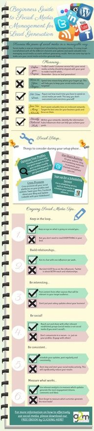 Saving time on social media and using Social Media Marketing For B2B Lead Generation (Infographic)