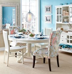 A fresh vintage dining room