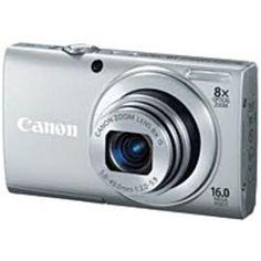 Canon PowerShot A4000 Digital Camera - 16 Megapixels - 8x Optical Zoom/4x Digital Zoom - 3-inch Display - Silver