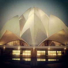 Lotus Temple (Bahá'í House of Worship) in New Delhi, Delhi