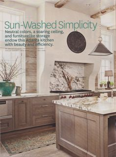 San Marco USA lime wash paint on oak. Kitchen by Beth Webb and Peter Block. Very Belgian.