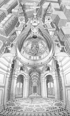 Inside-Out bouwwerken binnenstebuiten in de tekeningen van Stephen Biesty.
