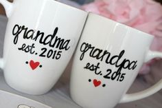 Pregnancy announcement mug grandma mug grandpa mug by TheQuirkyCup More