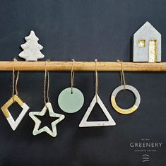 Shop online: www.greenery.gr Concrete Design, Greenery, Christmas Ornaments, Shop, Home Decor, Decoration Home, Room Decor, Christmas Jewelry, Christmas Decorations