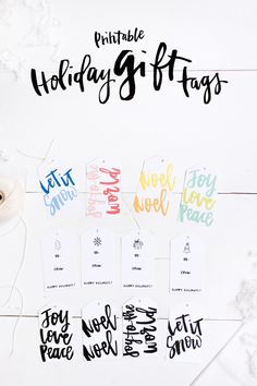 Free Holiday Gift Tags | Holiday gift tags, Free printable and Holidays