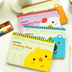 We-R-Animals-Cute-Coil-Weekly-Planner-Agenda-Scheduler-Journal-Notebook-Memo
