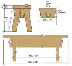 Easy Step Stool Plans | garden stool plan