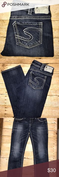 Silver Jeans Suki Straight. Waist 33 Inseam 28 Silver Suki Straight Jeans. Excellent Used Condition. Waist 33 Inseam 28. Silver Jeans Jeans Straight Leg