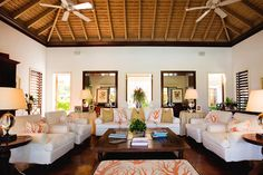 Seeking a Tropical Retreat? Head to Jamaica's Montego Bay Tropical Style, Coastal Style, House Of Turquoise, White Sofas, Montego Bay, Resort Style, Architectural Digest, Luxury Villa, Jamaica
