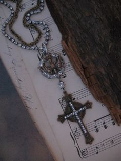 On The Wings Of A Dove... vintage assemblage necklace