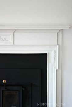 How to paint a wood burning fireplace insert and mantel