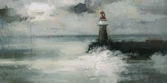 Faro V -Óleo sobre lienzo (38 x73 cm.)