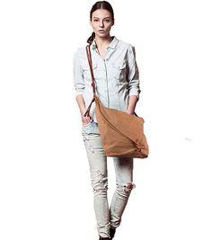 43d78151d8 Tom Clovers Summer New Women s Men s Classy Look cool Simple style Casual  Canvas Crossbody Messenger Shouder Handbag Tote Weekender Fashion Bag Grey  - A ...