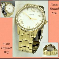 WOW+2 GIFT! BRAND NEW Guess newest luxury gold women watch classic hot DEAL