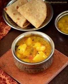 Potato Masala ~ Potato Gravy Curry ~ Aloo ki subzi ~ With Stepwise Pictures