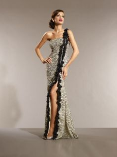 Stunning Sequined Evening Gown