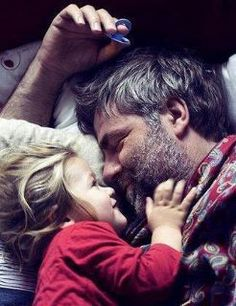 Reminds me of how much I loved to touch my Daddy beard when I was little