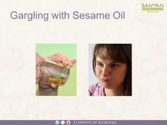 Gargling with Sesame Oil (Oil Pulling) Ayurveda Vata, Pitta Dosha, Oil Pulling, Sesame Oil, Natural Health, Cleanse, Health And Wellness, Detox, Healthy Lifestyle