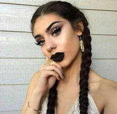 Love this black lip for fall.