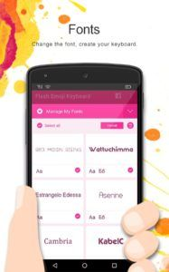 Скачать Flash Emoji Keyboard на Андроид - смайлики Эмодзи
