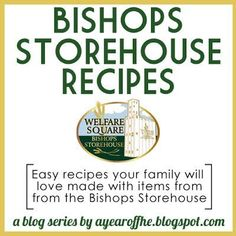 Need some good food storage recipes to add to your collection free recipes made with ingredients from the lds bishops storehouse this could be helpful to print for families food storage recipes forumfinder Images