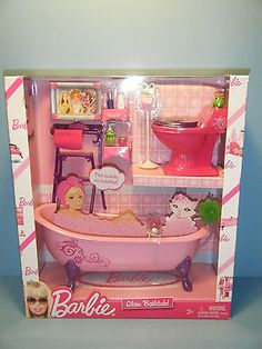 2009 BARBIE GLAM BATHTUB PLAYSET #N4900  *NEW*