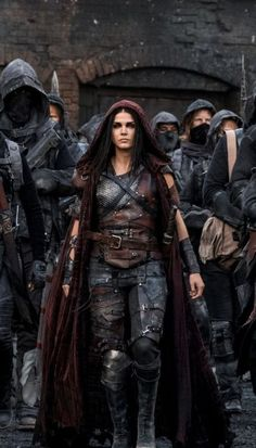 Marie Avgeropoulos as Octavia Blake in The 100 (CW Marie Avgeropoulos, The 100 Show, Halloween Tattoo, The Witcher, Larp, Female Characters, Character Inspiration, Science Fiction, Fantasy Art