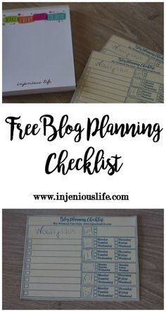 Free Blog Planning Checklist  Printable Inside!