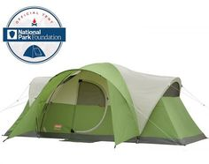Coleman Montana 8 person tent with hinged door is a very popular family camping tent with a great packed size and the price hard to match.